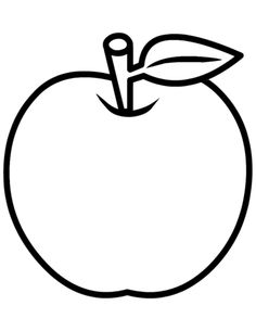 Apple coloring page Free Printable Coloring Pages Apple Coloring Pages, Shopkins Colouring Pages, Tree Coloring Page, Preschool Coloring Pages, Coloring Pages For Kids, Coloring Books, Coloring Sheets, Pattern Coloring Pages, Coloring Pages To Print