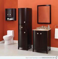 orange vanity room