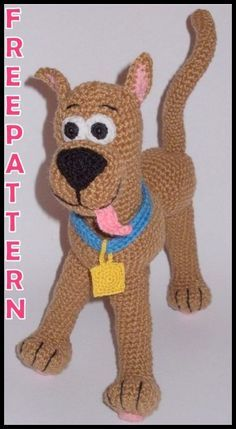 Teddy Bear Knitting Pattern, Animal Knitting Patterns, Knitted Teddy Bear, Stuffed Animal Patterns, Disney Crochet Patterns, Crochet Patterns Amigurumi, Crochet Toys, Scooby Doo, Knitted Animals