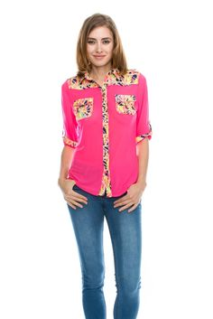 Sue&Caleb womens Bright 3/4 sleeve regular and plus size top at Amazon Women's Clothing store: