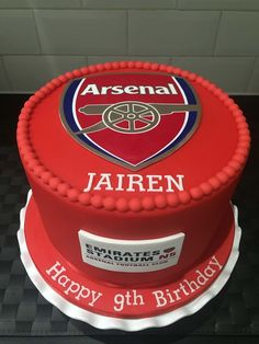 Arsenal Birthday Cake Arsenal Birthday cakes and Cake