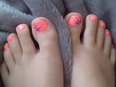 For-Women-Spring-Style/ coral toe nails, summer toe nails, cute summer nail Coral Toe Nails, Summer Toe Nails, Cute Summer Nails, Purple Toes, Pink Nail, Pretty Toe Nails, Cute Toe Nails, Pretty Toes, Toe Nail Art