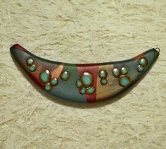 Large focal pendant - polymer clay by Sweet2Spicy, via Flickr