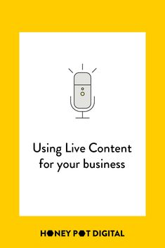 Streaming live content is not only a different way to share content around your business, it allows your audience to engage on the spot so that you can react immediately. Some live content can be repurposed, and saved for your audience to watch later, or you can remove it from the web afterwards, so that it's an exclusive piece of content for those who watched it live.