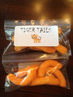 Cheese Puffs and custom labels! Preschool Snacks, Toddler Activities, Scout Activities, 11th Birthday, 1st Birthday Parties, Tiger Tails, Cheese Puffs, Vbs Crafts, Circus Party