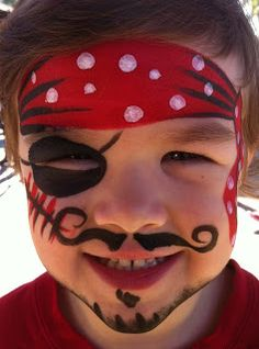Face Painting & Body Art: Pirate.  Especially great for children's safety, so they have an unobstructed view.