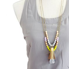 Tassel Necklace - -