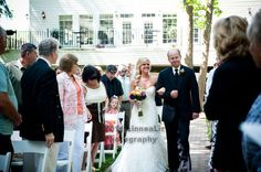 An Orange & Purple Wedding: The Bride & her Father get emotional as they walk down the aisle. http://linnealizphotography.com