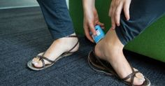"Use deodorant to help soothe blisters. If your feet are slipping in new shoes and giving you blisters, try some deodorant to ease the friction. ""Duct tape works as well,"" says Dr. Athletes do it all the time. Your Shoes, New Shoes, Prevent Blisters, Crafts For Teens To Make, Clothing Hacks, 5 Ways, Helpful Hints, Flip Flops, Wash And Go"