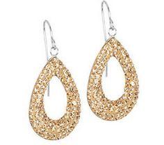 Steel by design- Crystal Teardrop Dangle Earrings