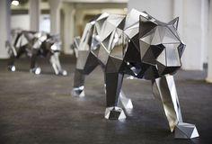 Geometric Mirror Sculptures