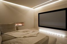 Basement Extension Home Cinema by Luxury Interior Designers Lawson Robb: