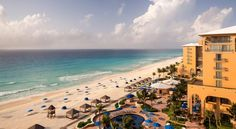 The Ritz-Carlton Cancun.This luxury hotel, awarded the AAA Five Diamond Award, is located 18 km from downtown Cancun. Among its facilities are 2 outdoor pools, a spa and a private beach. #CancunAllinclusiveResorts #Cancun #Hotels #Travel #Mexico