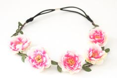 Flower & Vine Headband - Ivory Pink | http://frankie-phoenix.com/collections/hair-accessories/products/flower-vine-headband-ivory-pink