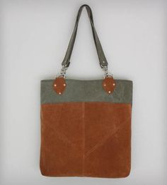 Army Canvas & Vintage Suede Triangle Tote by Heist on Scoutmob Shoppe