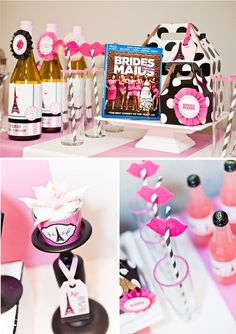 Parisian Girls Night In + Bridesmaids Movie Viewing Party-Bachelorette Party idea Bachlorette Party, Bachelorette Movie, Bachelorette Ideas, Bachelorette Weekend, Friend Wedding, Our Wedding, Party Wedding, Wedding Gowns, Wedding Ideas
