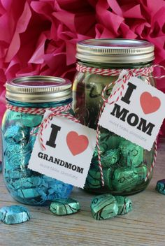 Come on, it's chocolate candies inside a mason jar, with an adorable tag and bow to boot. Who wouldn't love a gift like that? Learn more at Eclectically Vintage. - Redbook.com