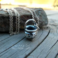super cute Cauldron Charm Necklace, all Sterling Silver by Art & Soul Jewelry