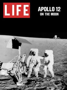 Apollo 12 on the Moon, November 1969 (Life Magazine).