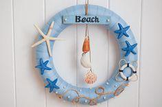 Beach Wreath Summer Wreath Shells Wreath Year Round Wreath