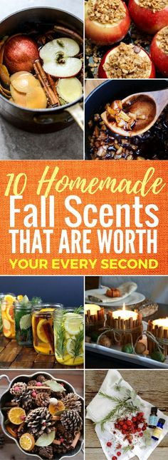 10 Best Ways To Make Your Home Smell Great This Fall These diy fall scents for the home are so AMAZING! I'm serious. I LOVE how my home smells. Number 4 and 9 are my absolute favorite. Can't wait to try the other scents during the fall. Stove Top Potpourri, Simmering Potpourri, Fall Potpourri, Homemade Potpourri, Potpourri Recipes, Homemade Gifts, House Smell Good, House Smells, Fall Smells