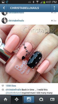 Beautiful Micro bead mani by  @christabellnails