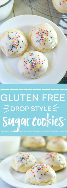Gluten Free Drop Sugar Cookies (dairy free) - perfect for when you feel like sugar cookies but don't want all the extra work of rolling them out.