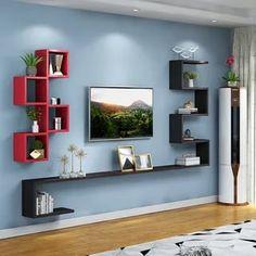Tv Shelf Design, Tv Unit Interior Design, Tv Wall Design, Bookshelf Design, Living Room Partition Design, Living Room Tv Unit Designs, Room Partition Designs, Cute Furniture, Home Decor Furniture