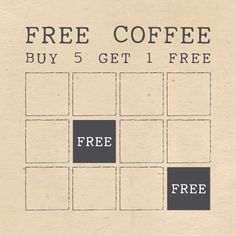 THE WOODEN SQUIRREL - COFFEE LOYALTY CARD DESIGN (