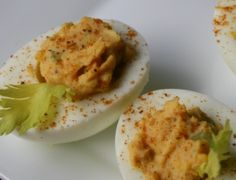 Old Bay Deviled eggs, appetizer