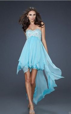 High Low Strapless Homecoming Dresses La Femme 17683