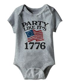 This Gray 'Party Like It's 1776' Bodysuit - Infant by American Classics is perfect! #zulilyfinds