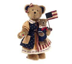 "Boyds Bears -Jim Shore ""America The Beautiful"" #92006-15 -14"" Plush Bear-2008"