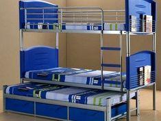 Triple Trundle Bunk Beds | Blue Bash Bunk Bed Ideas for Boys