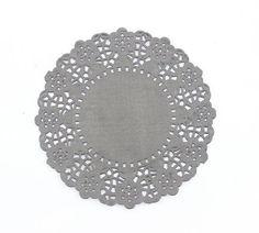 Charcoal Black 10.2cm Doilies http://thewoodenbox.com.au/collections/tea-lace-paper-doilies/products/4-5-paper-doilies-monochrome-colour