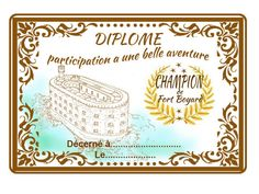 diplôme de participation donné dans le sac cadeau aux enfants Pixel Art, Diy And Crafts, Vintage World Maps, Birthdays, Happy Birthday, Invitations, Activities, Frame, Kids
