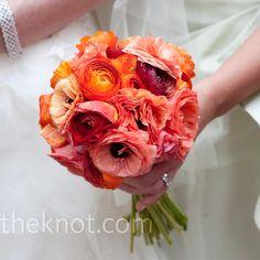 Orange Bridesmaid Bouquets