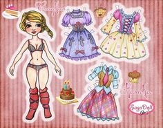 """Сладкая Натка"" Бумажная куколка от SaGaDoll * 1500 free paper dolls for girls at Arielle Gabriel's International Paper Doll Society and travel stories for women at The China Adventures of Arielle Gabriel *"