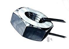 기초디자인 개체묘사(금속 너트) by llion Metal Font, Object Drawing, Machine Design, Marker, Heavy Metal, Cool Art, Sketches, Drawings, Painting