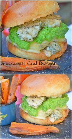 Juicy Cod Fillets + Mushy Peas + Melted Emmental Cheese + Brioche Buns = Perfection