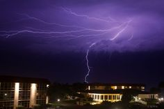 Lightning over Indian River Shores. Photo courtesy, WPTV YouReporter Karl.