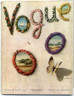 #vintage #covers Voque Paris 1947  #magazine ~ Coltellacci Lila de Nobili Simone de Beauvoir