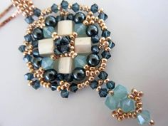 PDF beaded pendant tutorial  seed by BeadsMadness on Etsy