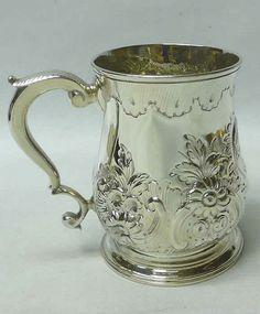 George II Silver Mug 1745 Sam Wood stock id 7650 in Antiques, Silver, Solid Silver   eBay