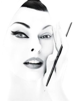 Strong eyeliner