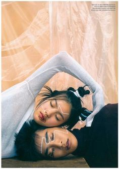 Seo Yoo Jin, Lee Myung Kwan by Kim Young Jun for Dazed and Confused Korea July 2016 line pt 2 -- lines on their faces are dramatic + draw attention, also the directional line her arm forms which adds movement to photo Street Style Photography, Creative Photography, Editorial Photography, Portrait Photography, Fashion Photography, Photography Aesthetic, Photography Journal, Photography Training, Photography Lighting