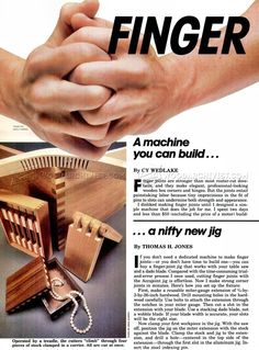 DIY Finger Joint Machine - Joinery