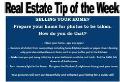 Real Estate Tip Of the Week
