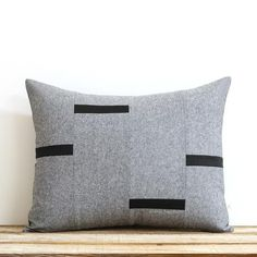 Black Chambray Dash Pillow Cover, NEW Interconnection Pillows by Jillian Rene Decor, Scattered Lines Stripes, Black Dash Pillow Pillow Inserts, Pillow Covers, Triangle Pillow, Milk Shop, Black Pillows, Colorful Pillows, Black Linen, One Design, Chambray