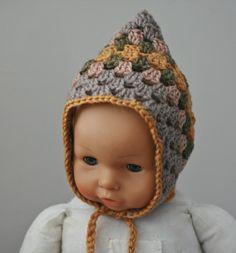 Crochet.  Granny Square Pix Hat.